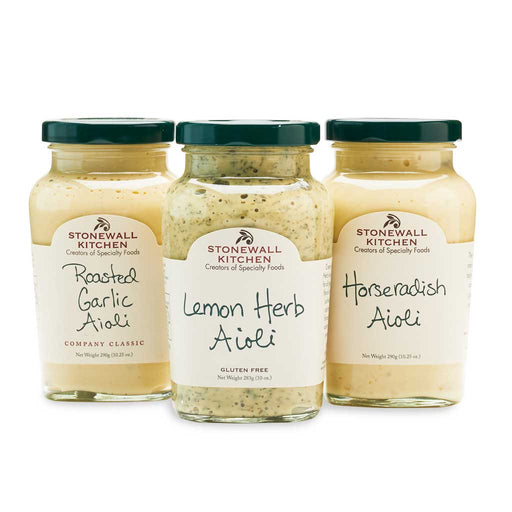Stonewall Kitchen Aioli Sauce Collection - 3-Pack