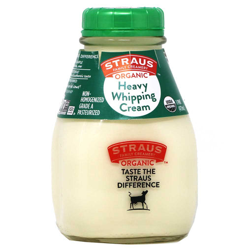 Straus Family Creamery - Organic Heavy Whipping Cream, 1 Pint, 473ml