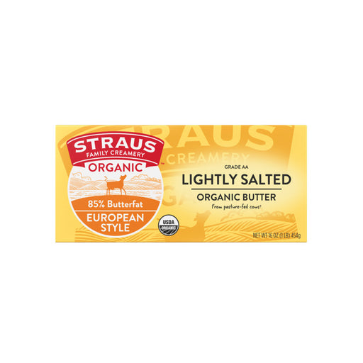 Straus Family Creamery - Organic Lightly Salted European Style Butter, 1lb