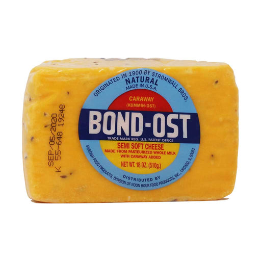Bondost - Caraway Seeds Semi Soft Cheese (Half Wheel), 18oz