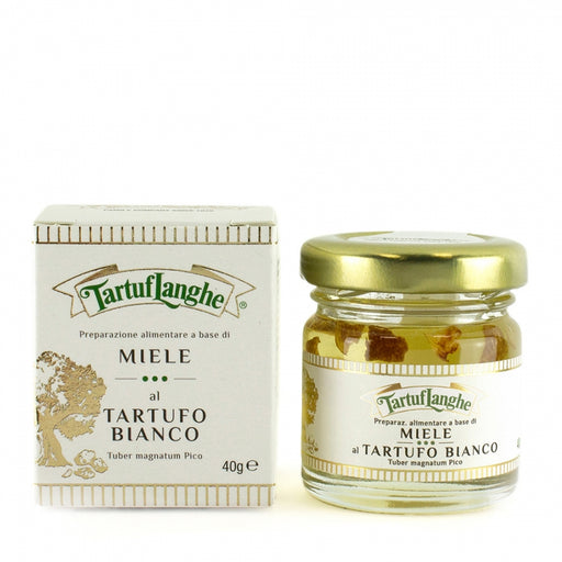 Tartuflanghe - Acacia Honey with White Truffle Slices, 1.41oz (40g)