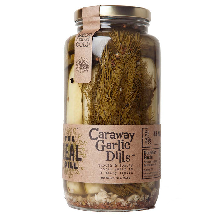 The Real Dill - Caraway Garlic Dill Pickles, 32 oz
