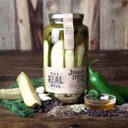 The Real Dill - Jalapeno Honey Dill Pickles Case of 6 Jars