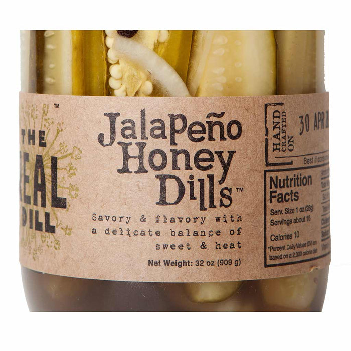 The Real Dill - Jalapeno Honey Dill Pickles, 32 oz