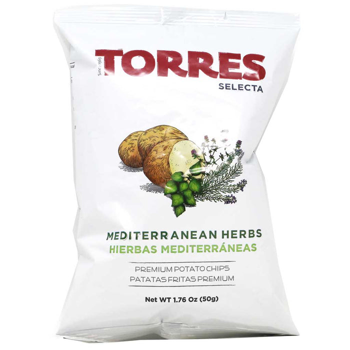 Torres - Mediterranean Herb Potato Chips, 50g
