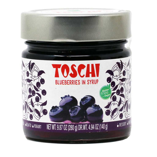 Toschi - Blueberries in Heavy Syrup, 9.9oz Jar