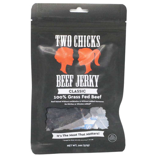 Two Chicks Jerky - Classic Beef Jerky, 2oz