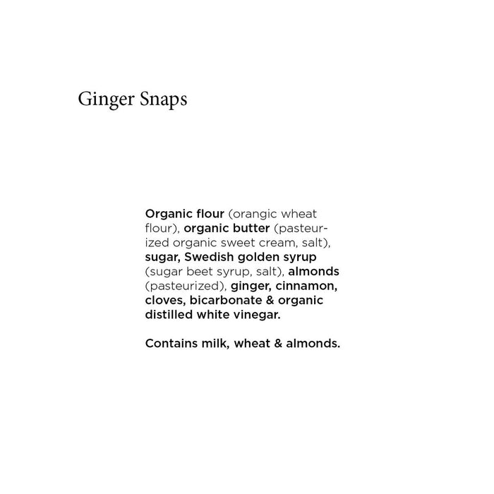 Unna Bakery - Ginger Snaps Swedish Cookies, 3.3oz