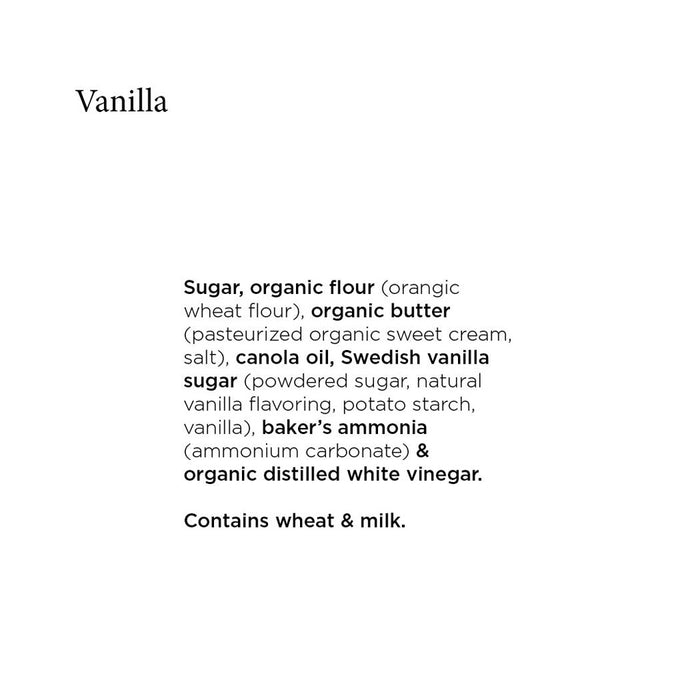 Unna Bakery - Vanilla Swedish Cookies, 3.4oz