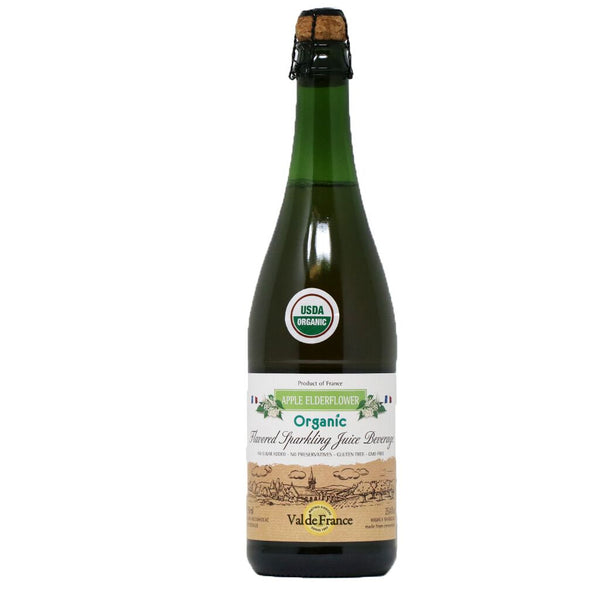 Val de France - Organic Sparkling Apple Elderflower Juice, 25oz