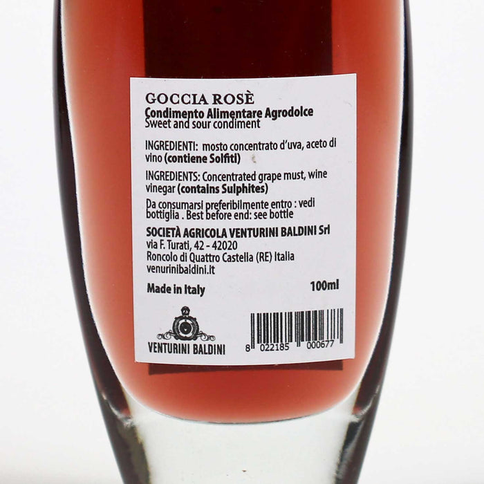 Venturini Baldini Goccia Rose Wine Balsamic Condiment, 100ml