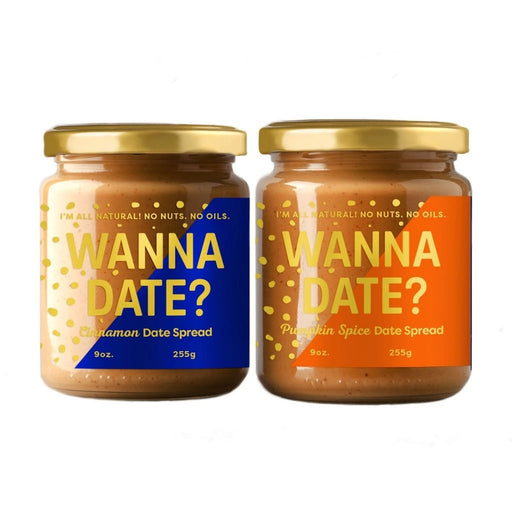 Wanna Date - Cinnamon & Pumpkin Spice Date Spread Duo Pack