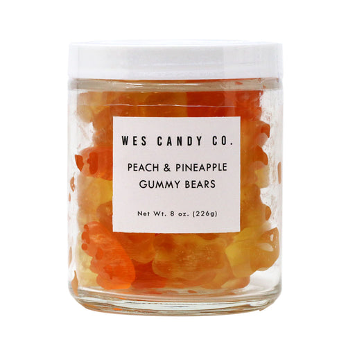 Wes Candy Co - Peach Pineapple Gummy Bear Mix, 8oz