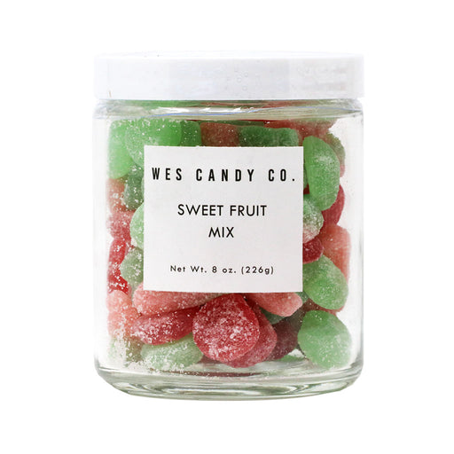 Wes Candy Co - Sweet Fruit Mix Gummy Candies, 8oz Jar