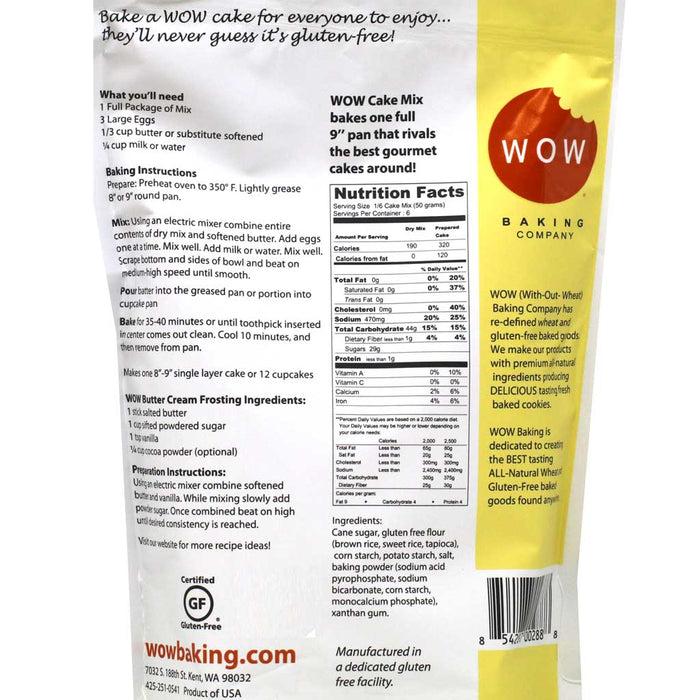 WOW Baking Company - Yellow Cake Mix, 11oz