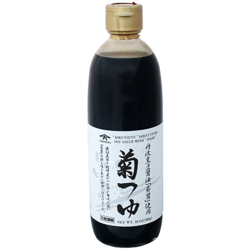 "Yamaroku 2 Years Aged Soy Sauce With Bonito & Kelp Stock ""Kiku Tsuyu"", 18oz"
