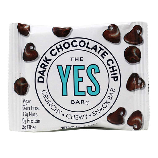Yes Bar - Dark Chocolate Chip Vegan, Paleo & Grain-Free Snack Bar, 40g