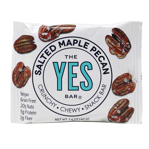 Yes Bar - Salted Maple Pecan Paleo & Grain-Free Snack Bar, 40g