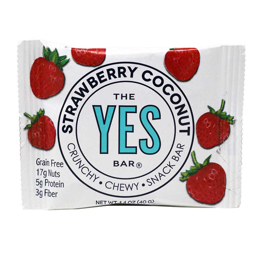 Yes Bar - Strawberry Coconut Paleo & Grain-Free Snack Bar, 40g