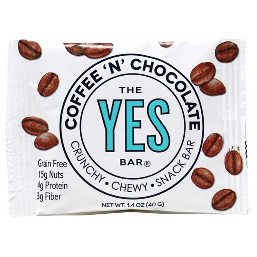Yes Bar - Coffee & Chocolate Paleo & Grain-Free Snack Bar, 40g