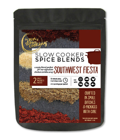 Slow Cooker Spice Blend, Southwest Fiesta, 2 Spice Packets
