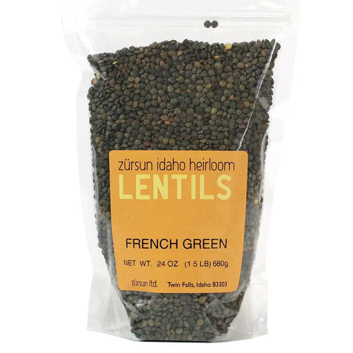 Zursun Idaho - French Green Lentils, 1.5lbs Bag