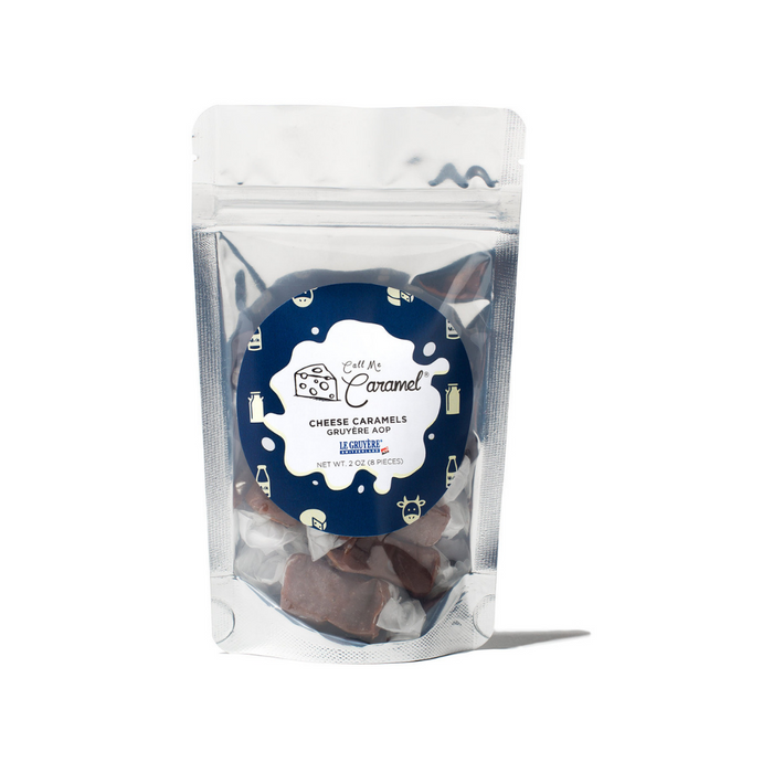 Call Me Caramel - Cheese Caramels with Gruyere AOP and Cheddar, 2oz Bags (4-Pack)