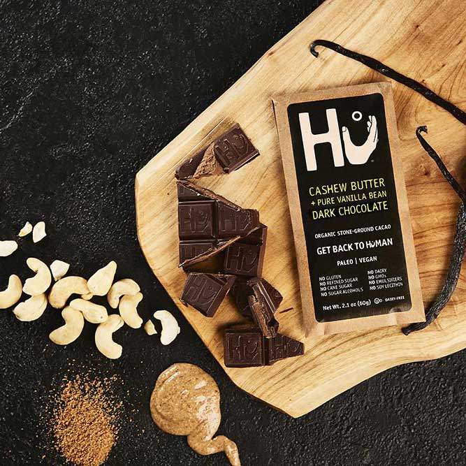 Hu - Cashew Butter & Vanilla Bean Dark Chocolate Bar (Organic, Vegan, Paleo), 2.1oz