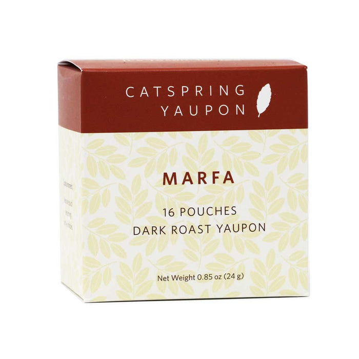 Catspring Yaupon - Marfa Dark Roast Tea, 16-Bag