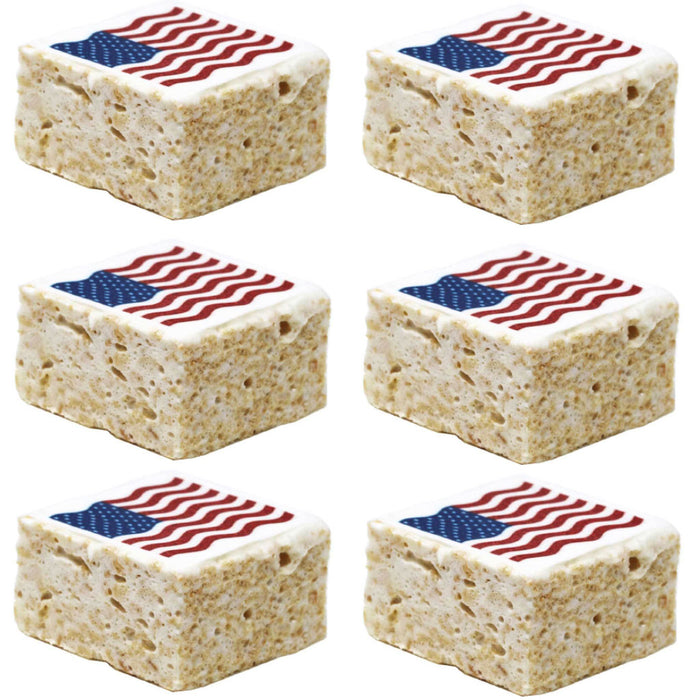 The Crispery - Handmade Marshmallow Rice Crispy Treats, 6oz (American Flag)