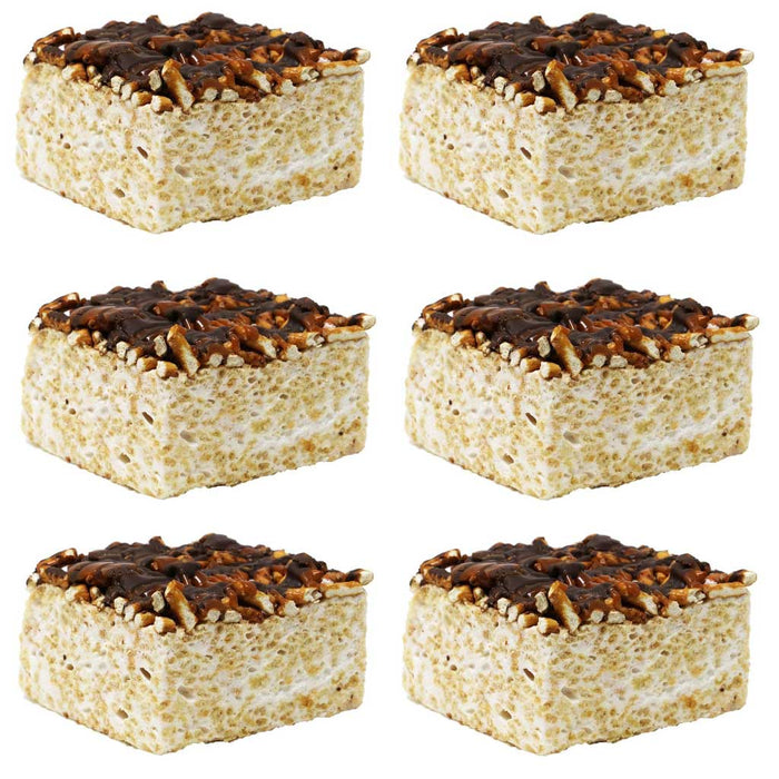 The Crispery - Handmade Marshmallow Rice Crispy Treats, 6oz (Pretzel Surprise)