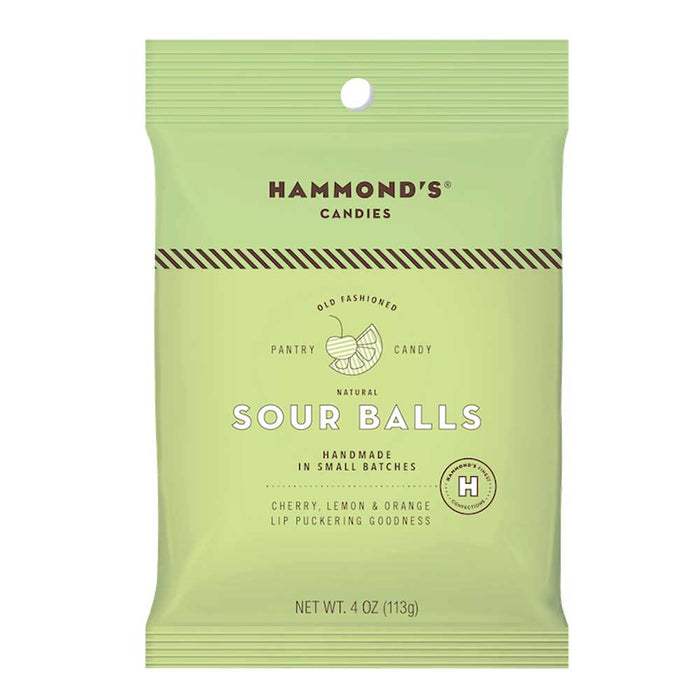 Hammond's Assorted Grab-n-Go Sour Drops, 4oz (113g) Bag