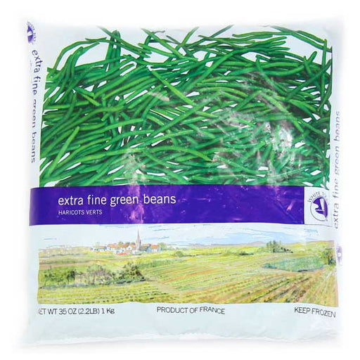 White Toque - Extra Fine French Green Beans, 2.2lb (1kg)