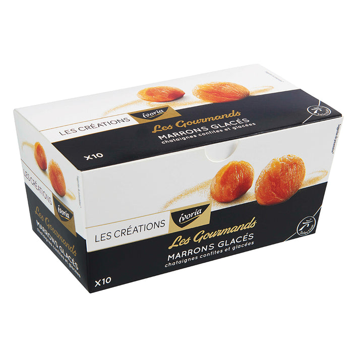 Ivoria - Candied Chestnuts (Marrons Glaces), 10pc, 240g (8.47oz)