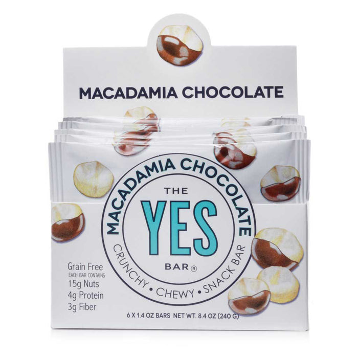 Yes Bar - Macadamia Chocolate Paleo & Grain-Free Snack Bar, 40g