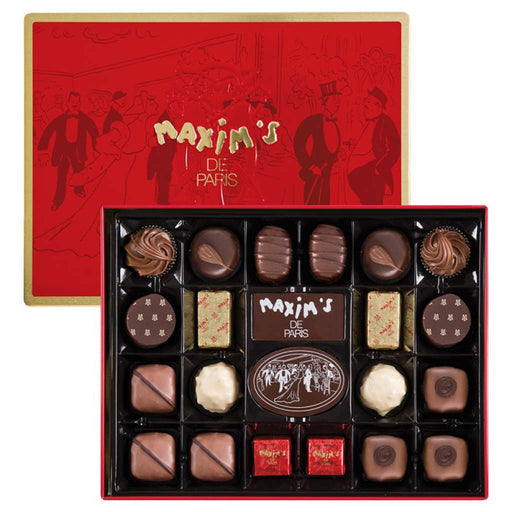Maxim's Paris - Beautiful Era (Belle Epoque) Assorted Chocolates, 22pc Gift Tin