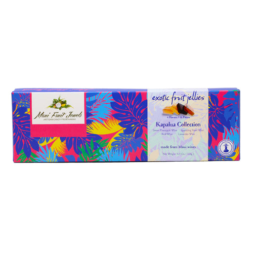 Maui Fruit Jewels - Assorted Hawaiian Wine Jellies, Kapalua Collection (18 Pieces)