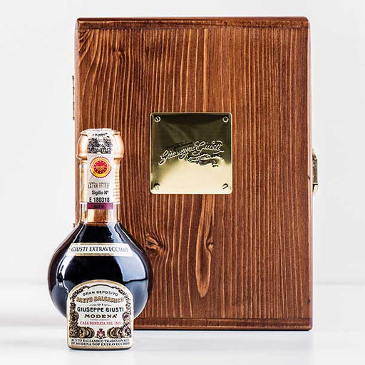 Giuseppe Giusti Aged Balsamic Vinegar - Traditional Extravecchio (25 Years+), Wooden Gift Box