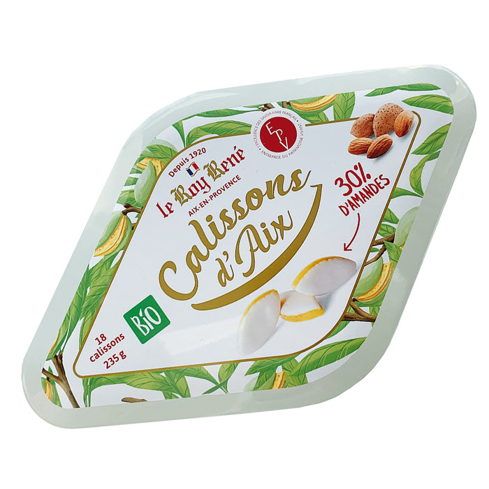 Roy Rene - Organic Calissons d'Aix en Provence 18pc (Almond Candy), 8.3oz Tin