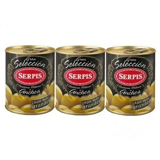 Serpis - Olives Stuffed with Anchovies, 3 x 1.84oz