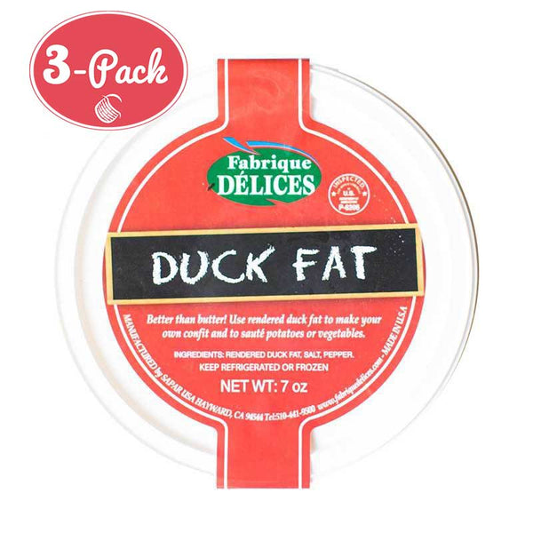 Delices - Rendered Duck Fat, 7oz (3-PACK)