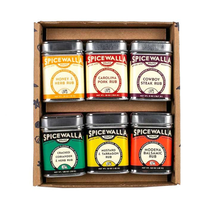 Grill & Roast Spice Rub Collection, 6 Tins Gift Set