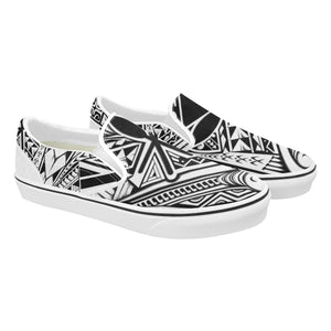 Manta Low  Men's Classic Slip-On Sneakers. - Hawaiian Attitude