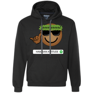 Hawaiian Emoji Fleece Pullover Sweatshirt - Hawaiian Attitude