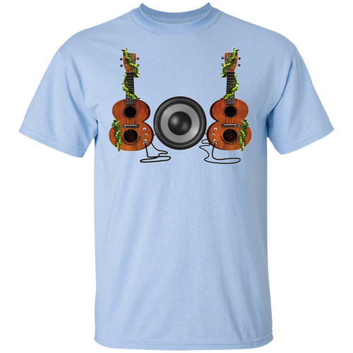 808 Ukulele Cotton T-Shirt - Hawaiian Attitude