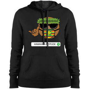 Noko Hawaiian Emoji Ladies' Pullover Sweatshirt - Hawaiian Attitude