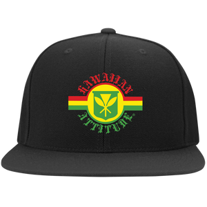 Sovereign Flag Flat Bill Twill Flexfit Cap - Hawaiian Attitude