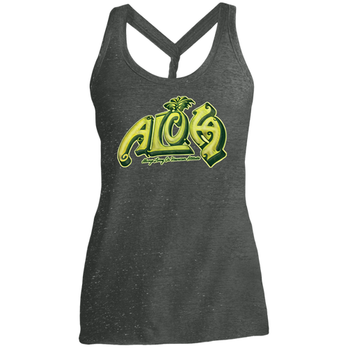 Aloha Ladies Cosmic Twist Back Tank - Hawaiian Attitude