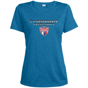 Hawaiian A.M.A Ladies' Heather Dri-Fit Moisture-Wicking T-Shirt - Hawaiian Attitude