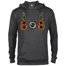 808 Ukulele Unisex French Terry Hoodie - Hawaiian Attitude